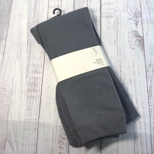 ⬇️$10⚡️Fleece Lined Footless Tights S/M Charcoal